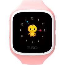 360 儿童手表 巴迪龙儿童手表5 W563 儿童卫士 智能彩屏电话手表 蜜桃粉产品图片主图
