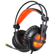 赛德斯 A55 头戴式游戏耳机 呼吸灯 (黑橙)