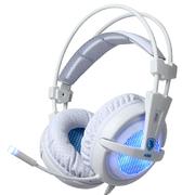 赛德斯 A55 头戴式游戏耳机 呼吸灯 (白蓝)