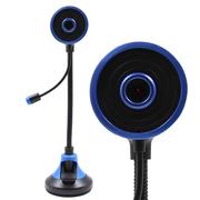 现代 摄像头电脑台式机免驱网络高清摄像头内置麦克风HYC-D210黑+蓝