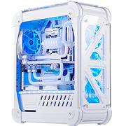 超频三 暴雪 白色 全塔式机箱(支持ATX大板/标配4个12CM风扇/1个LED灯条/水冷/长显卡)