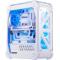 超频三 暴雪 白色 全塔式机箱(支持ATX大板/标配4个12CM风扇/1个LED灯条/水冷/长显卡)产品图片1