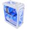 超频三 暴雪 白色 全塔式机箱(支持ATX大板/标配4个12CM风扇/1个LED灯条/水冷/长显卡)产品图片2