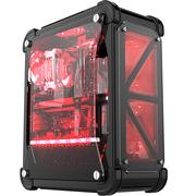 超频三 暴雪 黑色 全塔式机箱(支持ATX大板/标配4个12CM风扇/1个LED灯条/水冷/长显卡)
