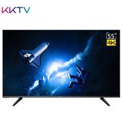 KKTV U55J 55英寸10核 HDR 64位4K超高清安卓智能WIFI液晶平板电视机 康佳品质(黑色)
