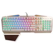 狼派 X01S 虚空战舰机械键盘104键 RGB背光悬浮全键无冲 茶轴 土豪金