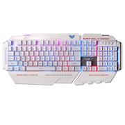 狼蛛 统领有线专业游戏键盘  USB104键  RGB混光跑马(白色)