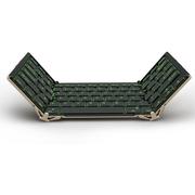 航世 HB099B 无线蓝牙折叠键盘 USB有线电脑键盘 黑色背光键盘