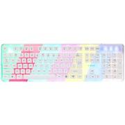 宜博 EKM725WEUS-NU 七色背光机械键盘手感   有线背光游戏键盘 流光版