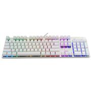 优派 ku520机械键盘104键白银色RGB透明青轴