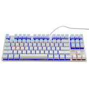 优派 KU520合金版机械键盘 87键单色背光青轴 白银色
