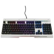 三巨 SKU833 机械键盘银黑色RGB水晶青轴标准版
