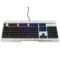三巨 SKU833 机械键盘银黑色RGB水晶青轴标准版产品图片1