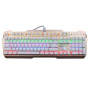 狼派 X06S 虚空风暴  CIY版可换轴机械键盘104键 混光版悬浮全键无冲 黑轴 土豪金/白键帽