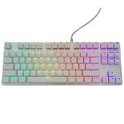 优派 KU520机械键盘87键白银色RGB透明青轴