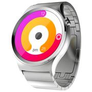 土曼 T-Ripple智能手表男女士商务运动防水 可通话计步测心率打电话 兼容安卓苹果系统 精钢不锈钢版冰川银