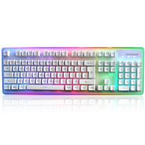 优派 ku310 天行者机械手感游戏音乐键盘白色RGB光标准版产品图片主图
