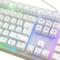 优派 ku310 天行者机械手感游戏音乐键盘白色RGB光标准版产品图片2