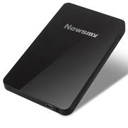 纽曼 Mini card 睿智 1.8英寸 移动硬盘  纤薄 快速 安全 稳定 80G存储 珍珠黑