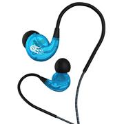 兰士顿 SP90 蛇纹记忆绕耳 入耳式运动防水防汗降噪耳机 重低音跑步线控耳麦音乐耳机 透明蓝