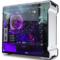 追风者 515ETG双侧透电脑游戏水冷机箱(3毫米铝材/4毫米钢化玻璃/RGB灯控/背线SSD防尘静音)银色产品图片3
