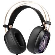 第一印象 G20高保真头戴式监听级电竞游戏耳机 有麦带七彩灯光 黑色