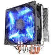 超频三 东海X5 CPU散热器 (多平台/5热管/12cm智能蓝灯风扇/cpu风扇/附带硅脂)
