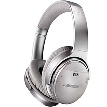 BOSE QuietComfort 35 无线耳机-银色 QC35头戴式蓝牙耳麦 降噪耳机 蓝牙耳机产品图片主图