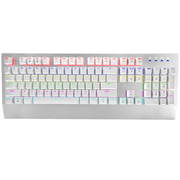 ROYAL KLUDGE Rainbow(R104)游戏机械键盘银色混光茶轴