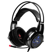 硕美科 E95X 汉宫版 游戏耳机 物理5.2多声道 伸缩麦克风 电脑耳麦