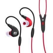 迷籁 M7P专业运动耳机入耳式 立体声线控通话耳机 防水耐汗 红色