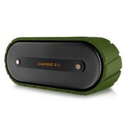 米粒 露营者2.0 三防户外蓝牙音箱4.0 无线迷你音响低音炮便携式插卡 小坦克苍翠绿