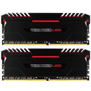 海盗船  复仇者LED灯条 DDR4 3200 16GB(8Gx2条) 台式机内存 红光