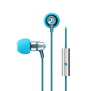 迷籁 M11J耳塞式水晶耳机 线控手机音乐耳机 送女朋友 琉璃蓝