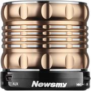 纽曼 L60 无线蓝牙音箱 免提通话器自拍神器便携迷你音响插卡小钢炮手机低音炮 土豪金