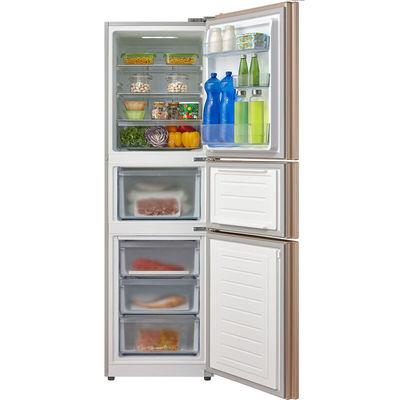 美的 BCD-226WTM(E) 226升 风冷无霜电脑控温三门冰箱 中门宽幅变温 节能静音(芙蓉金)产品图片3