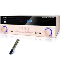 先科 su-110 AV功放机(5.1家庭影院HMDI功放高清4K/3D内置蓝牙无损传输专业大功率数字) (金色)产品图片主图