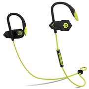 兰士顿 BHOOK 利箭 锲形双动力无线运动蓝牙耳机 双耳立体音乐耳机 通用型 黑绿色