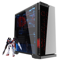 爱国者 炫影 黑色 分体式机箱(支持ATX主板/钢化玻璃面板/USB3.0/HD音频/大侧透/支持背线)产品图片主图