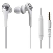 铁三角 ATH-CKS550IS 重低音 手机通话入耳式耳机 白色
