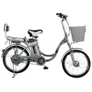 永久 乐活20吋锂电车 铝合金车架 48V10AH天能锂电池电动自行车 铝本色