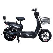 小刀 T60电动自行车 宽脚踏板新款48V大动力高性能代步车 14寸电瓶车 超威电池 消光黑