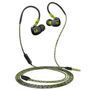 玛雅 S9超重低音严密IPX7防水可水洗拉力线材挂耳式运动耳机入耳式线控带麦克风 绿色