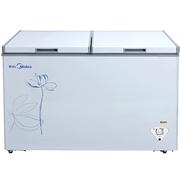 美的 BD/BC-353DKPM 353升 变频节能冷柜卧式双顶开门冰柜商用 32kg大冷冻力 D+速冻系统(白色)
