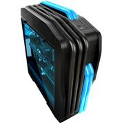 超频三 玛丽 黑色 中塔式机箱 (支持ATX大板/LED呼吸灯/电源独立仓/水冷/长显卡/USB3.0)