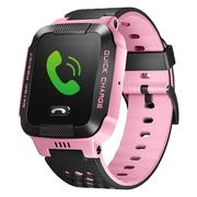 小天才 电话手表Y03 快充版 粉黑 儿童智能手表360度安全防护防水 学生定位通话手机 礼物礼品