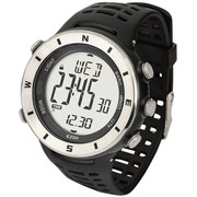 宜准 H011F12电子表登山表海拔指南针多功能手表防水运动表男士手表