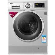 LG WD-BH455D2 9公斤 DD变频 滚筒 洗烘一体洗衣机 静音 LED触摸屏 洁桶洗 6种智能手洗(奢华银)