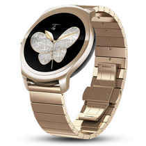 Ticwatch 2 智能手表精瓷版(金色钢表带)语音手势触摸ticwear系统 蓝牙3G通话手表 防水GPS记步测心率产品图片主图