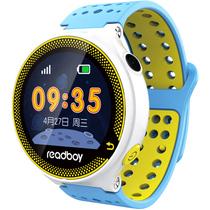 读书郎 W3T 智能手表 儿童电话手表 GPS定位防丢失手环 360智能防护安全电话手表手机 天空蓝产品图片主图